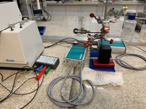 Sistema de espectroeletroquímica (POT–C2)